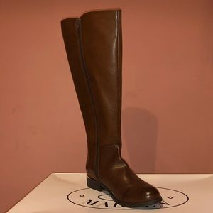 Leather brown Steve Madden knee high boots